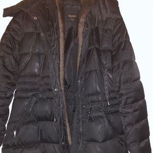 Laundry by Shelli Segal Black Puffer Coat